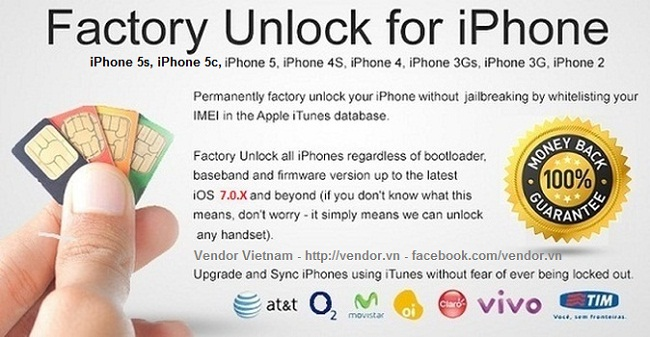 Unlock iPhone Professional - Vendor Vietnam